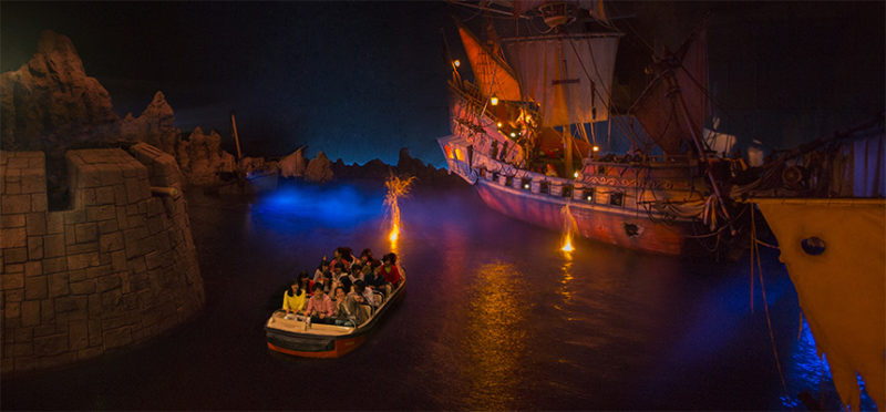 カリブの海賊の暗い雰囲気の内部