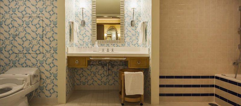 デラックスルーム(アクセシブル)の洗面所・トイレ・バスルーム