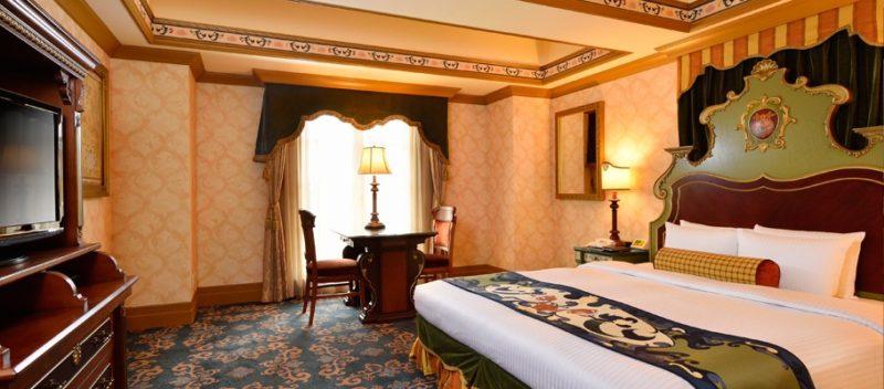 ミラコスタのバリアフリー対応客室のベッドルーム