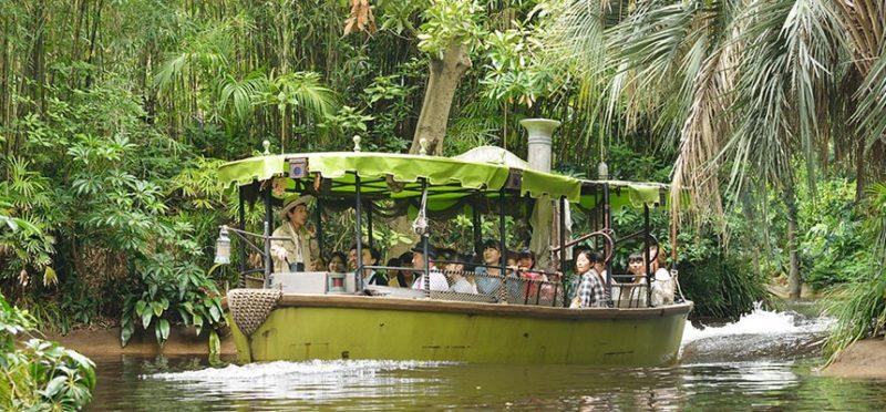 ジャングルの中をボートでツアー